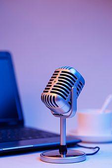 microphone et notebook