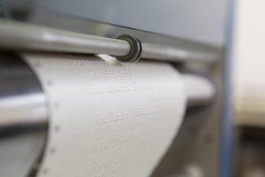 papier braille sortie embosseuse