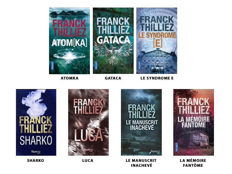 Les 7 couvertures des livres de Franck Thilliez