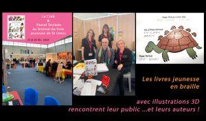 L'équipe du Cteb et Pascale Teulade au festival du livre de St-Orens