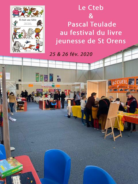 Les allées et stands du festival du livre jeunesse Occitanie de St-orens