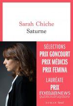 """Couverture du livre """"Saturne"""" de Sarah Chiche"""