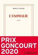 """Couverture du livre """"L'anomalie"""" d'Hervé Le Tellier"""