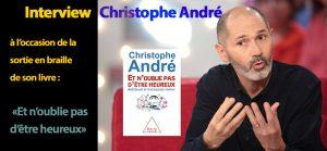 Portrait de Christophe André et couverture de son livre